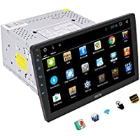 Quad Core Android 6.0 System Car Stereo with 10.1  Adjustable Viewing Touch Screen Double Din Head Unit In Dash GPS Navigation Radio Audio Player Support 1080P Video Bluetooth OBD2 WiFi Mirrorlink