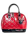 Mickey and Minnie Red and Black Patent Embossed Bag Standard