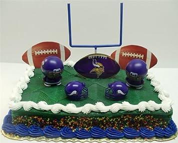 Amazoncom NFL Football Minnesota Vikings Birthday Cake Topper