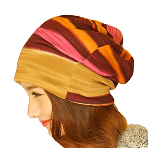 Womens Rainbow Stripes Convertible Headgear