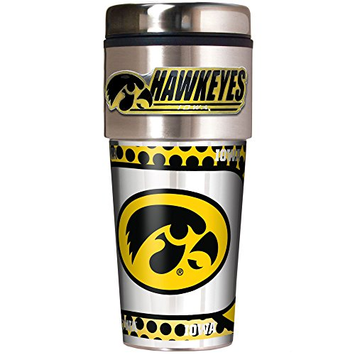 NCAA Iowa Hawkeyes Metallic Travel Tumbler,  16-Ounce