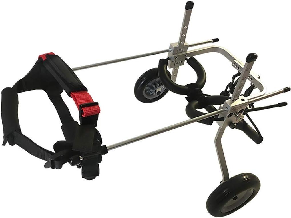AMITD - Silla de ruedas para perro, 1,5 – 24 kg, aleación de aluminio, 2 ruedas, para rehabilitación de animales domésticos