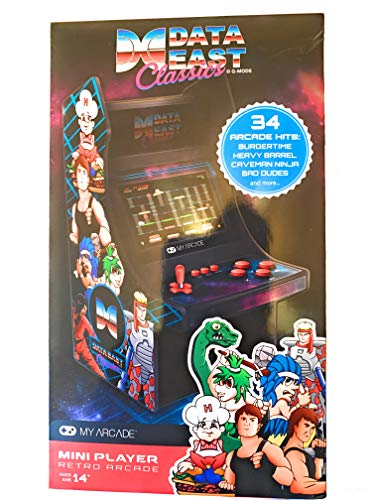 My Arcade Mini Arcade 10 Retro Arcade Machine with 34 Data East Hits: Bad Dudes, BurgerTime, B-Wings, Karate Champ, and Many More