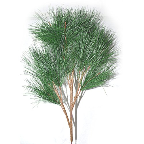 FatColo(R) 70cm real like Plastic Artificial fake plastic Pine Evergreen Plant Tree Branch Green for Christmas Wedding Home Office Furniture (Evergreen Branches)