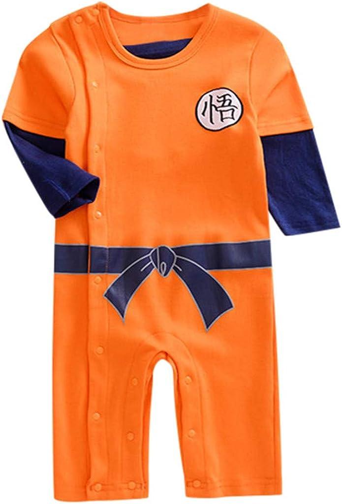 MAYOGO Ropa Bebé Goku Bodis Manga Larga Mono Broches ...