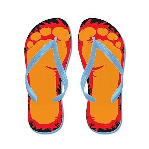 Piedini Bigfoot Cafepress - Infradito, Sandali Infradito Divertenti, Sandali Da Spiaggia Blu Caraibico