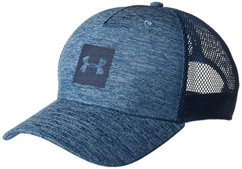 Pro Trucker Hat - Under Armour Men's Twist Trucker Cap, Petrol Blue//Petrol Blue, One Size Fits All