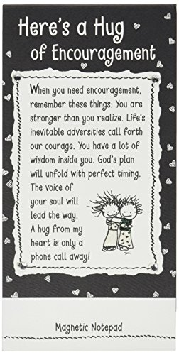 Blue Mountain Arts Magnetic Notepad, Here's a Hug of Encouragement by Marci (NP368)