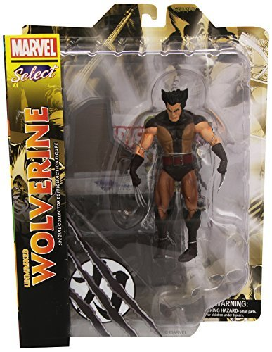 Marvel Select Brown Wolverine Figure Unmasked by Diamond Select