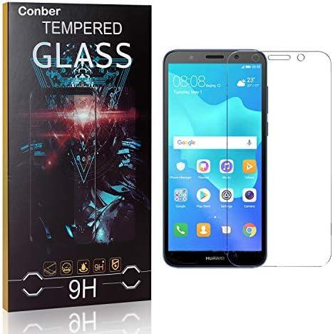 Conber [1 Stück] Displayschutzfolie kompatibel mit Huawei Y5 2018, Panzerglas Schutzfolie für Huawei Y5 2018 [9H Härte][Hüllenfreundlich]