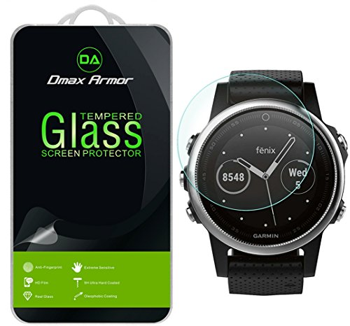 [2-Pack] Dmax Armor for Garmin Fenix 5S [Tempered Glass] Screen Protector