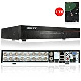 OWSOO 16CH Channel Full CIF H.264 HDMI P2P Cloud Network DVR Digital Video Recorder + 1TB Hard Disk support Audio Record Phone Control Motion Detection Email Alarm PTZ