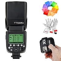 Godox TT685S HSS 1 /8000S GN60 TTL Flash Speedlite con X1T-S 2.4G TTL Disparador de Flash inalámbrico, Softbox de difusor de flash y Filtros de color de flash para cámaras DSLR de Sony con zapato MI