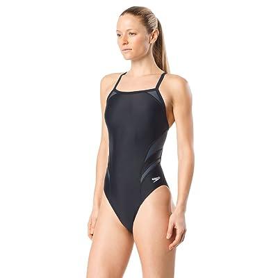 Amazon.com : Speedo Women's Tone Setter Splice Flyback : Clothing