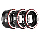 Neewer Metal Auto Focus AF Macro Extension Tube Set 13mm,21mm,31mm for Canon EF