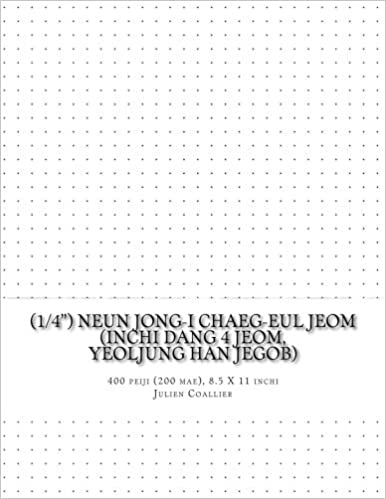 (1/4') Neun Jong-i Chaeg-eul Jeom (inchi dang 4 jeom, yeoljung han jegob): 400 peiji (200 mae), 8.5 X 11 inchi