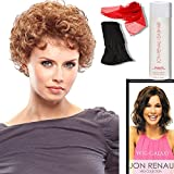 Bundle - 5 items: (#5305) Lite N Easy by Jon Renau, Chiffon Scarf, Jon Renau Synthetic Shampoo, Jon Renau Booklet, Black Wig Cap Liner, Color Chosen: 4