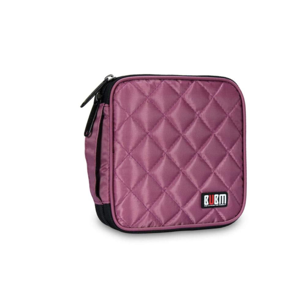 QINRUIKUANGSHAN Car CD Package, 32 Large-Capacity CD Bags, Square CD Bag, Storage Bag, 8 Colors Optional (Color : Purple) by QINRUIKUANGSHAN