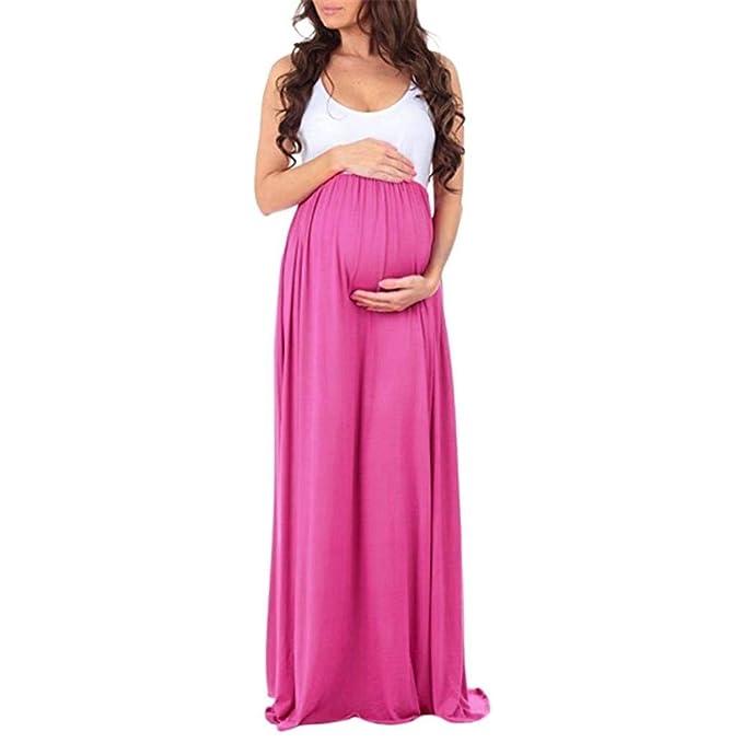 c2d56803c HaiDean Vestidos Señoras Mujer Embarazada Vestido Largo Encaje De Modernas  Casual Maternidad Vestido De Maternidad Accesorios De Fotografía Vestidos  Vestido ...