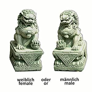 Perro FU (o león chino), verde (10109)