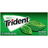 Trident Spearmint Sugar Free Gum, 12 Packs of 14