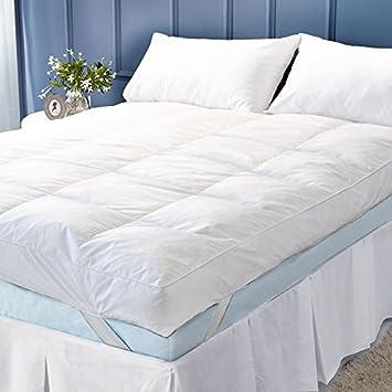 CosySleep - Cubre colchón de lujo, profundidad extra (12.5 cm), 100% plumas y plumón de ganso , Blanco, suelto: Amazon.es: Hogar