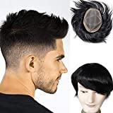 Lumeng Wigs Human Hair Men Toupee Mono Lace With