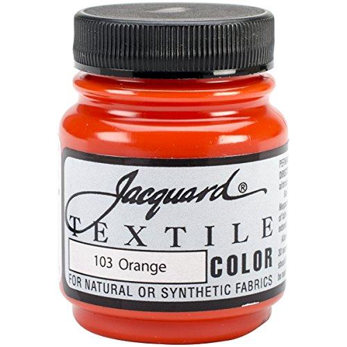 Jacquard Products Textile Color Fabric Paint, 2.25-Ounce, Orange