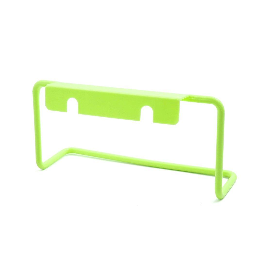 eDealMax verde plástico de baño del gabinete de cocina mantelería sostenedor del estante de la toalla que cuelga - - Amazon.com