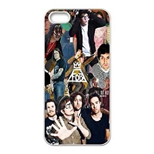 wugdiy Custom Case for iPhone 5,5S with Personalized Design Fall Out Boy