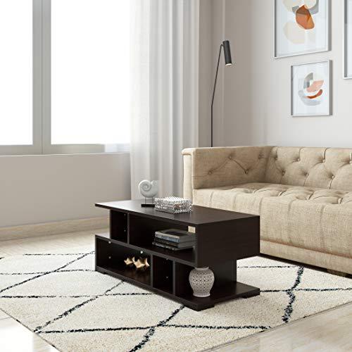 Amazon Brand   Solimo Areca Engineered Wood Coffee Table  Wenge