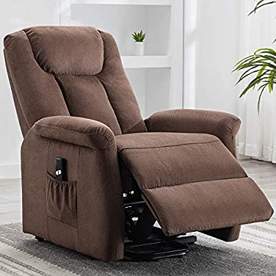 Bonzy Home Recliner New Electric Powered Lift Recliner Chair with Remote Control - Home Theater Seating - Bedroom & Living Room Chair Recliner Sofa for Elderly