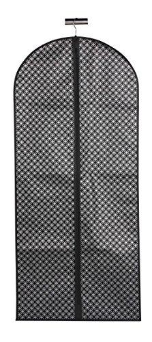 Home Basics Blossom Collection Metallic Travel Garment Bag (Dress Bag, Black/Silver) by Home Basics