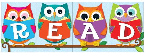 READ owls bulletin board set classroom decorations teacher gift