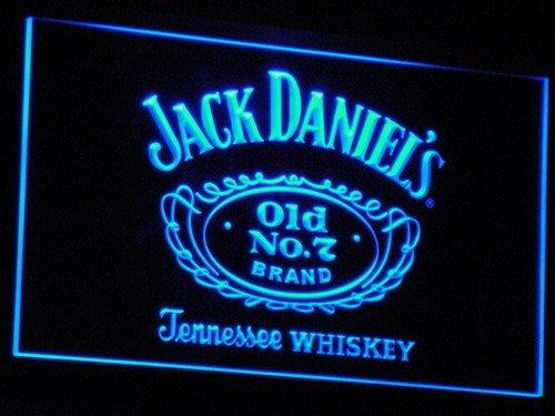 Jack Daniel's Whiskey LED Neon Sign Blue