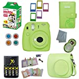 Fujifilm Instax Mini 9 Instant Camera – 10 Pack Bundle Lime Green (Small image)