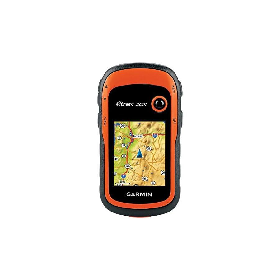 Garmin eTrex 20x TOPO GPS Bundle (100K Topographic Card, Carry Case, Belt Clip), Upgraded Version of Garmin eTrex 20 bundle
