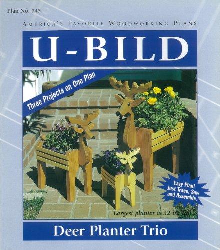 U-Bild 745 Deer Planter Trio Project Plan Reindeer Plan