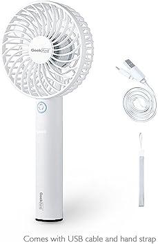 GeekAire Mini ventilador de escritorio portátil inalámbrico ...