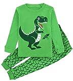 A&J Design Little Boys' Dinosaur Pajamas,Animal Pants Pjs Sets (3T, Dinosaur)