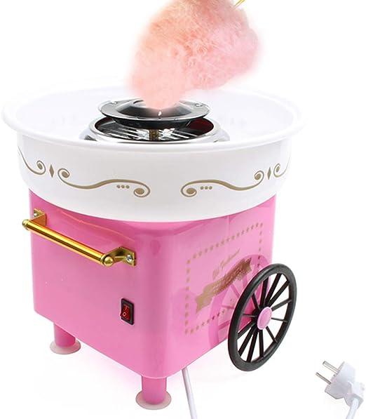 FXXJ Algodón de azúcar eléctrico, Fabricante de la máquina de algodón de azúcar, Carro de Cocina, Bricolaje, máquina de Hilo de azúcar para Hacer algodón de azúcar para niños: Amazon.es