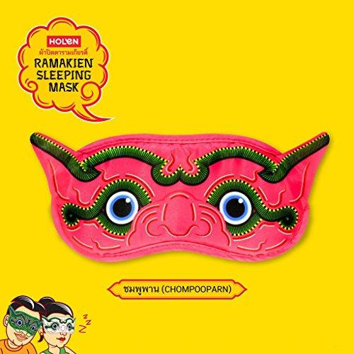 Comfortable Ramayana Sleep Mask Blindfold for Travel, Meditation, Nap, Shiftwork – PINK by Holen