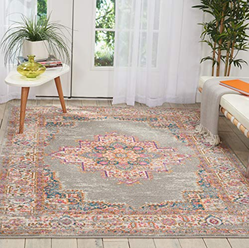 Nourison Grey Passion Area Rug, 6'7