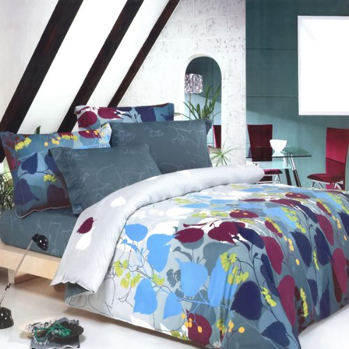 Blancho Bedding - [Grapevine Leisure] 100% Cotton 3PC Mini Comforter Cover/Duvet Cover Set (Full Size)