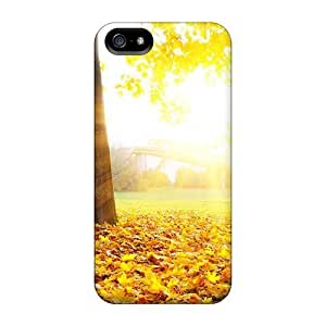 Iphone 5/5s Hard Back With Bumper Silicone Gel Tpu Case Cover Fallen Gold