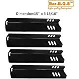 Bar.b.q.s Replacement Porcelain Steel Heat Plate ,heat shield, burner cover 91591(4Pack) for Select Uniflame Gas Grill Models