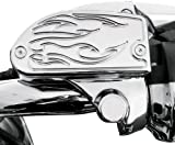 Baron Custom Accessories Master Cylinder Cover - Flame - Chrome BA-7681-03