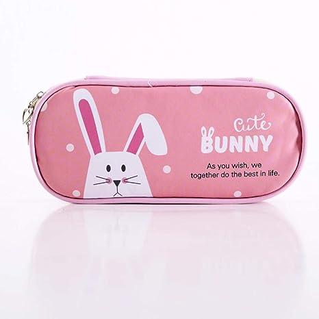 Estuche para lápices con diseño de animales de dibujos animados para niñas, diseño de conejo de gato, gran capacidad, estuche para bolígrafos, bolsa de papelería de regalo, suministros escolares: Amazon.es: Juguetes y