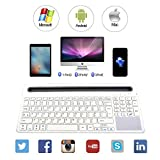 Keywin U-groove Multi Wireless Bluetooth with Touchpad Keyboard, Double Channel Design Full Function Keyboard, BT 3.0,Universal for Ipad Air Mini,Mac,Laptop,Ipad and Tablets PC Multi-Device (White)
