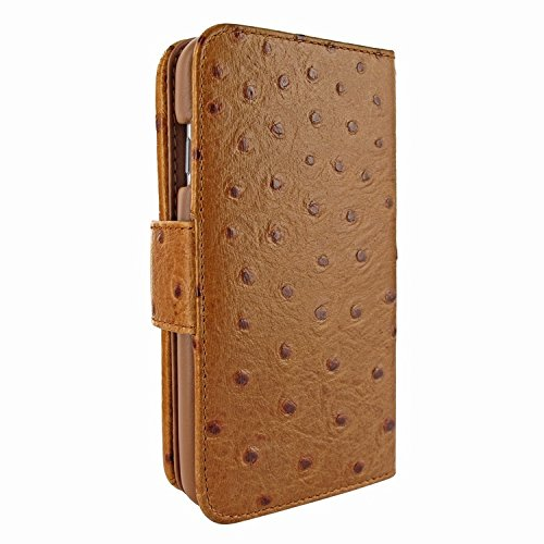 Piel Frama 717 Tan Ostrich WalletMagnum Leather Case for Apple iPhone 6 Plus / 6S Plus by Piel Frama (Image #3)